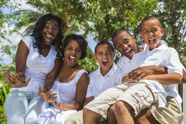 Happy African American Family 2